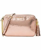 Nwt Michael Michael Kors Ginny Medium Leather Crossbody Camera Bag Soft Pink - $134.49