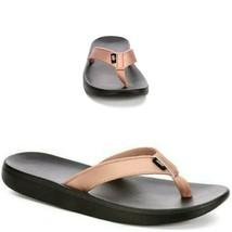 New Nike Women's Bella Kai Thong Sandals Bronze Black Rose Gold A03622 900 - $23.96
