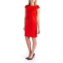 Vince Camuto Women's Short Sleeve Cotton Poplin Shift Dress w/ Embroider... - $49.90