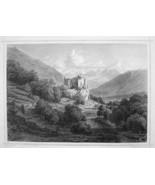 ITALY Castle Castelbello at Val Venosta Tyrol - 1870s Original Engraving... - $30.22