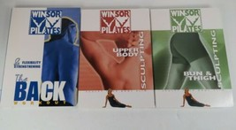 Lot Of 3 Windsor Pilates Sculpt Your Body Slim Workout DVD Tapes See Pic... - $15.99