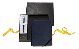 Cross Click Black Lacquer Ballpoint Pen & Midnight Blue Journal - $49.78