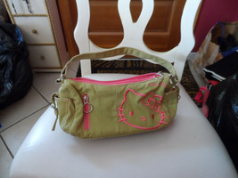 Olive and  hot pink Hello Kitty satchel bag - $12.50