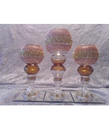 3pc. Autumn & Gold  Candleholder set - $78.09