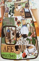 "Twill Fabric Kitchen Apron with pocket, 20"" x 30"", ESPRESSO & COFFEE BRE... - $15.83"