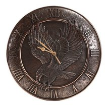 Majestic Eagle Wings of Glory American Bald Eagle Bronze Finish Wall Clock 12 In - $49.49