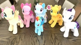 My Little Pony Sparkle Plush Toys Rarity Fluttershy Pinkie Applejack Rainbow - $59.39