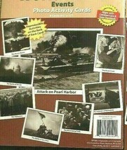 Hands-On Heritage World War II Events 8 Photo Activity Cards New Schools... - $14.67