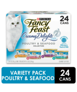 Fancy Feast Creamy Delights Poultry Seafood Variety Wet Cat Food, 3 oz (... - $36.79