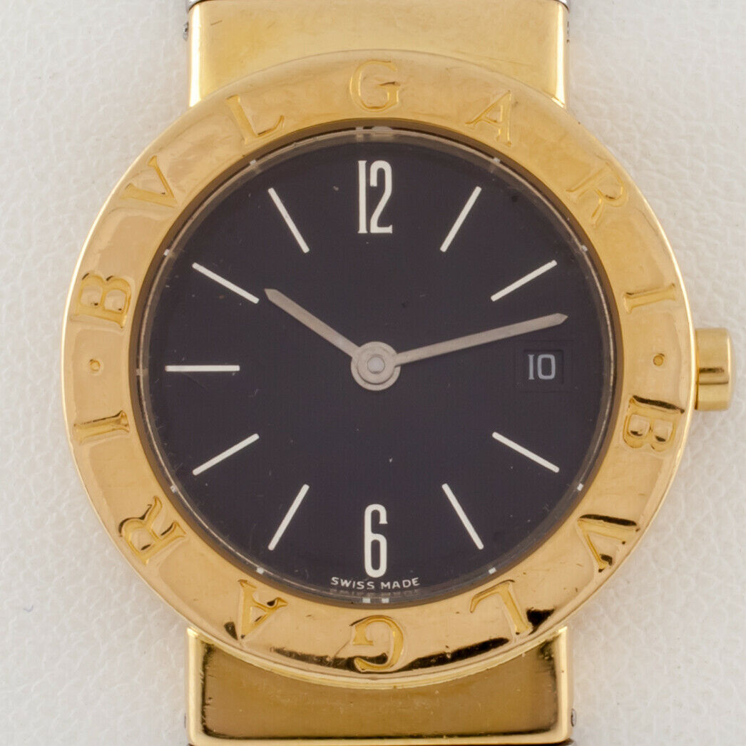 Primary image for Bulgari Bvlgari Women's Diagono Tubogas 18k/SS Quartz Watch w/ Date BB 26 GSCD