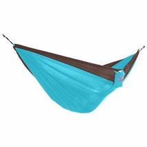 Vivere Double Parachute Hammock - Chocolate/Turquoise - $73.15