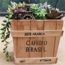 Creative Retro Solid Wooden Succulent Plants Flower Pot Gardening Decora... - $9.89