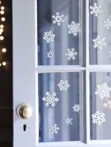 Christmas Snowflake Window Stickers Glitter Xmas Home Decorations Decor - $1.91+