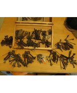 LOT Antique KEYS of all types 200+ as found. Skeleton, Clock, Padlock, R... - $850.00