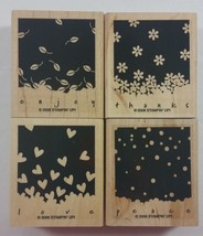Stampin' Up! Gently Falling Rubber Stamp Seasons Valentine Summer Winter... - $5.90