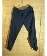 Haggar H26 Men's Performance Dress Pants Straight  Trousers 33 x 30 Navy... - $21.51