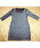 TIANA B. GRAY SILVER METALLIC SHIMMERY GLITTER BODYCON MINI DRESS PARTY ... - $9.99