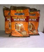 lot 4 of 10 pack HotHands Hand Warmers Value Pack 10 Hours of Heat odorless - $37.39
