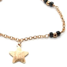 Silver 925 Bracelet Laminated Gold Pink le Favole Star Ag-905-br-63 image 2