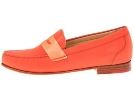 Women's Shoes Cole Haan MONROE PENNY Loafers Moccasins Orange Pop Reflect - $107.99