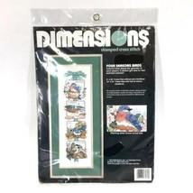 Dimensions FOUR SEASONS BIRDS Stamped Cross Stitch Kit 3130 Birding New  - $19.30