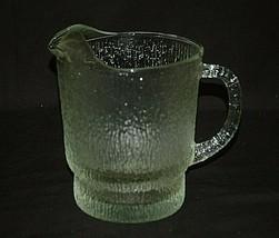 Crystal Ice by Indiana Glass Pitcher w Ice Shield 64 oz. Tree Bark Textu... - $39.59