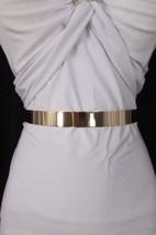 """NEW WOMEN LOW HIP HIGH WAIST NARROW GOLD METAL PLATE FASHION BELT 27""""-36... - $15.18"""