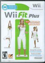 Wii Fit Plus (Wii, 2009) (w/ Manual) (Requires Wii Balance Board, not in... - $10.36