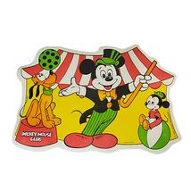 Vintage Walt Disney Mickey Mouse Club Placemat 17'' x 12'' Plastic Foam ... - $19.00