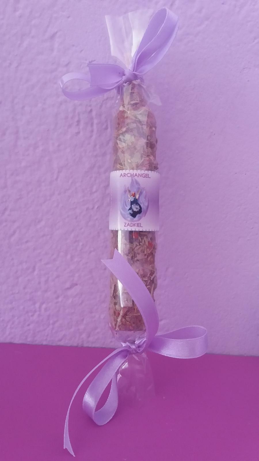 Archangel Zadkiel candle. For joy, love, forgiveness, freedom and mercy  - $16.99