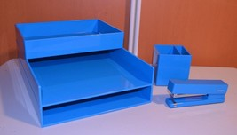 Poppin Desk Collection Organizer Stationery Office Style Blue - €22,80 EUR