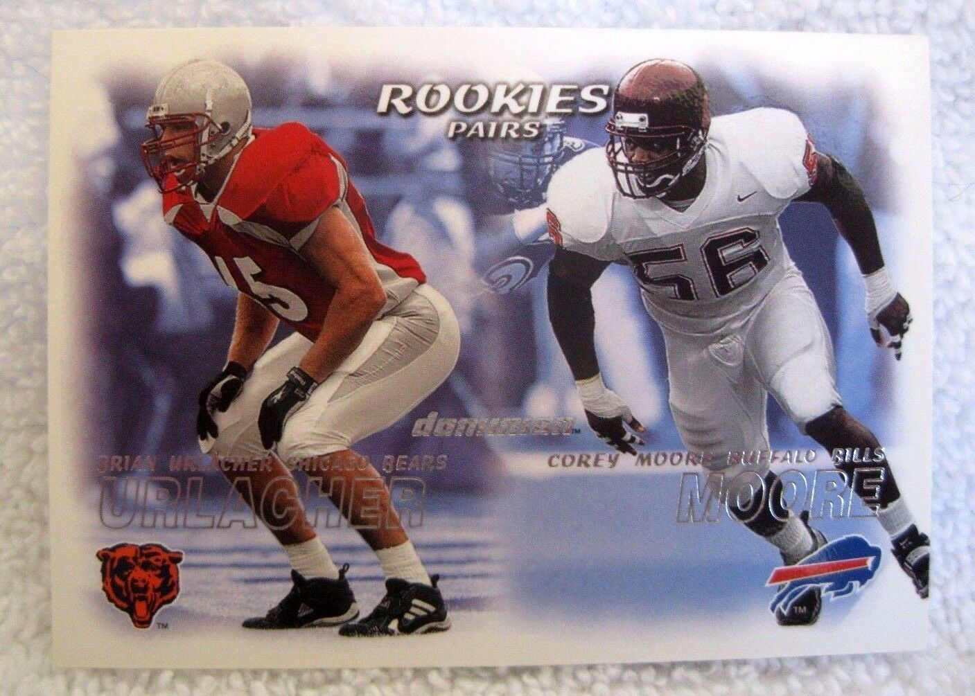 Brian Urlacher/Corey Moore RC 2000 Fleer Dominion Rookie Card-GEM MINT?-Bears image 1