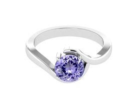 Classical Tanzanite Gemstone 925 Sterling Silver Ring US Size 7 SHRI1113 - $53.93
