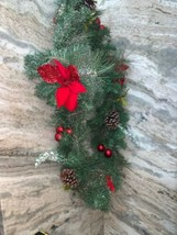 72 Inch Christmas Garland With White Snow Look - $38.61