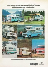 1967 Dodge Campers Vans Trucks Print Ad More Homes Than Your Average Subdivision - $11.89