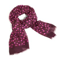 NWT Vera  Bradley Printed Poly Scarf in ROSEWOOD DOTS  - $23.99