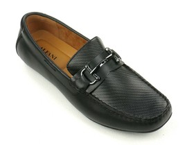 New Alfani Black Woven Leather With Bit Len Driver Loafers Shoes Size 10.5 - $39.59