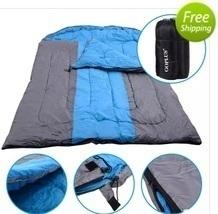 "97"" x 60"" Outdoor Duo Sleeping Bag Hiking Camping Envelope Lover Sleepin... - $167.99"