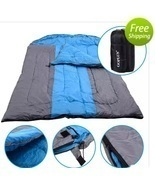 "97"" x 60"" Outdoor Duo Sleeping Bag Hiking Camping Envelope Lover Sleepin... - $167.99"