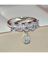 1.50Ct Oval Cut VVS1/D Diamond Half Eternity Wedding Band 14K White Gold... - $118.99
