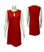 Diane Von Furstenberg Kadijah Orange Sleeveless Shift Dress Women's Size... - $54.45