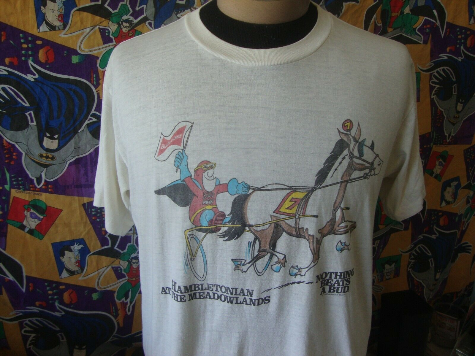 Primary image for Vintage 90's Budweiser Beer Bud Man 1990 T Shirt XL