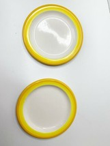 Vintage Mid Century Modern Mikasa Color Compliments Plate Lot Of 2 Yello... - $28.42