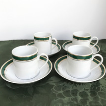 Crown Porcelain Prestige Demitasse Teacups Saucers 6oz Set of 4 - $49.99