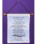 The Airman's Creed - Personalized Wall Hanging (1002-1) - $18.99