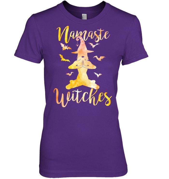 Funny Namaste Witches Halloween Yoga Tshirt