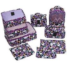 9 Set Packing Travel Cubes Laundry Pouches Makeup Toiletry Shoes Bag Pol... - $531,75 MXN