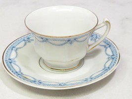 Rosenthal Bavaria Demitasse Childs Small Cup Saucer Blue Garland Floral - $17.82
