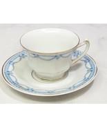 Rosenthal Bavaria Demitasse Childs Small Cup Saucer Blue Garland Floral - $17.82