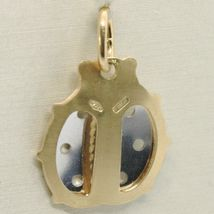 18K YELLOW & WHITE GOLD LADYBUG PENDANT, CHARMS, FINELY WORKED, MADE IN ITALY image 3